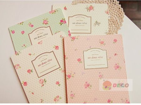 Sweet flower pattern notebook for writing,gift stationery supplies(SS-1433)