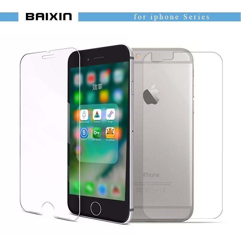"baixin Front+Back Tempered Glass for iPhone 6 plus 6s plus Screen Protector for iPhone6 6s plus 5.5""Toughened Glass Cover  film"