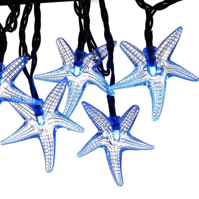Original Starfish Solar String Lights 20ft 30 LED Fairy Christmas Lights Decorative Lighting Outdoor Garden Holiday Decorations