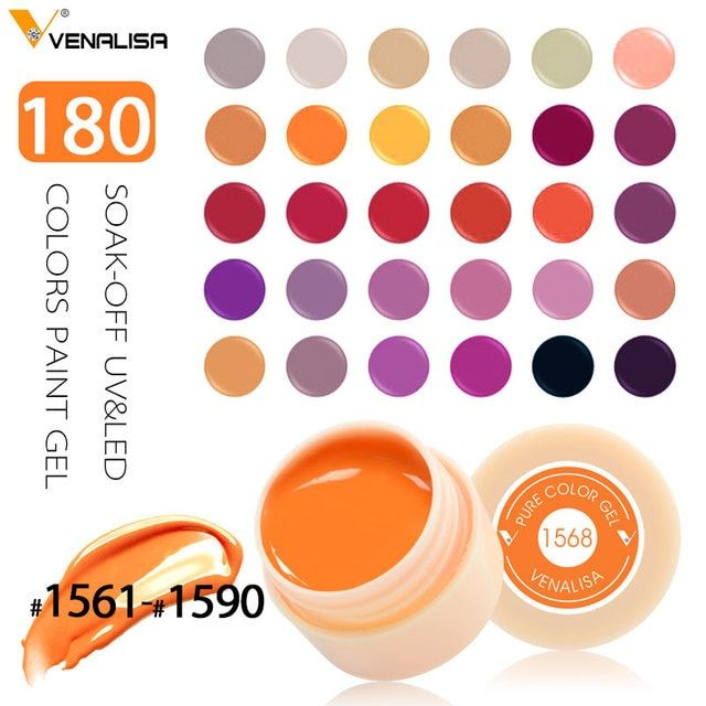 Venalisa Nail  Art  180 Color Soak Off UV/LED Gel Long Lasting  CANNI Color Gel Lacquers CANNI Hot Sale Gel Painting Gel Lacquer