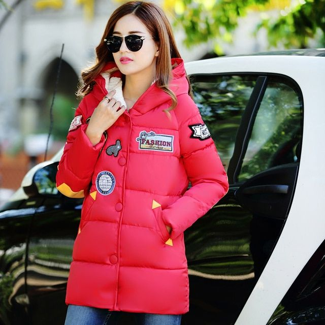 fashion female wadded jacket  New 2016 winter women cotton Coat jacket Warm parkas ladies winter Hooded coat Outerwear  S-XXXL