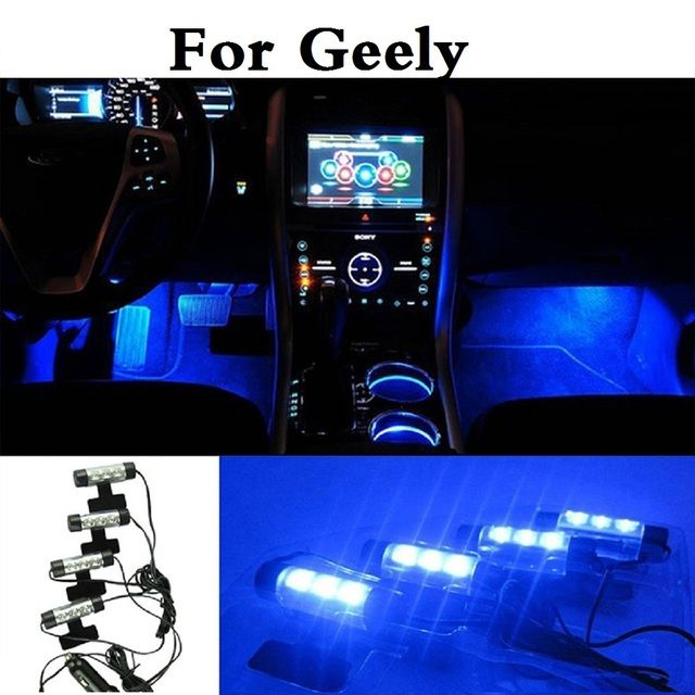 Auto Interior Lamp Decorative Atmosphere Lights Car Styling For Geely FC (Vision) GC6 9 Haoqing LC (Panda) Cross MK MR Otaka SC7
