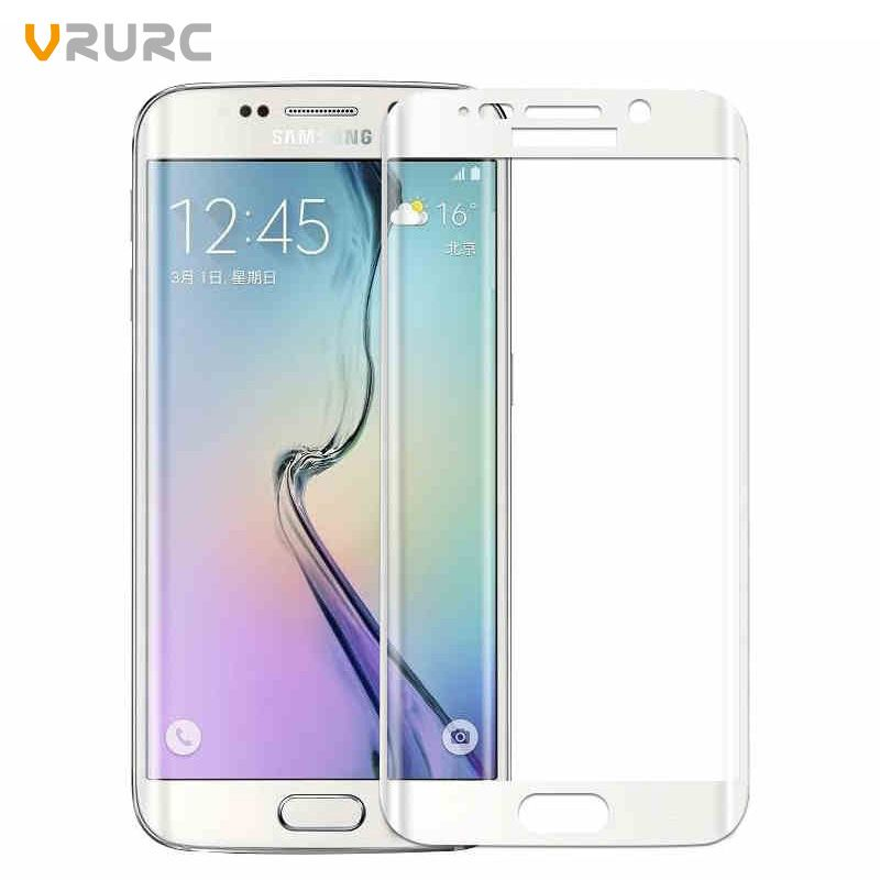 Vrurc 9H 3D Curved edge Full Cover Tempered Glass Screen Protector For Samsung Galaxy S6 edge Protective Film Cover