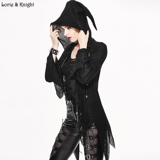 Street Fashion Gothic Punk Magical Hoodie Cool Creative Asymmetrical Women Tops