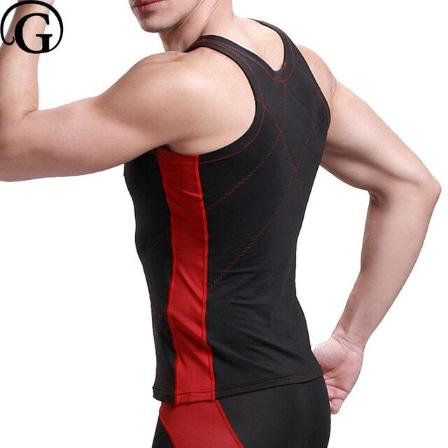 PRAYGER 10pcs/lot Seamless bamboo men sexy waist trainer touch belt slimming tummy trimmer shaper breathable sleeveless tank top
