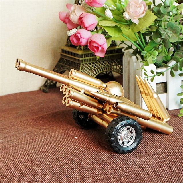 Ancient Weapon Double Gun Cannon Model Emulational Handicraft Furnishing Article Table Decoration Gift Great Collection Souvenir
