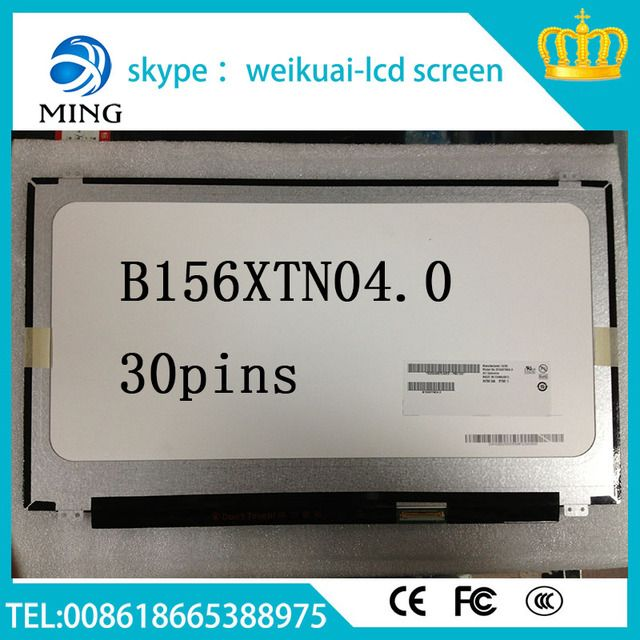 Free Shipping For B50-45 Z50-70 G50-70 Screen eDP 30Pin LP156WHB-TPA1 LP156WHB TPA1 Screen LCD Display Panel 1366*768 New Origin