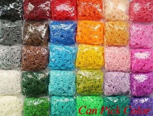 cheapeest snga 600 bands+24 S-Clips/pack, 12 pcak/lot Elastic Rubber Candy Bracelet Loom Bands Multy gift Silicone Christmas