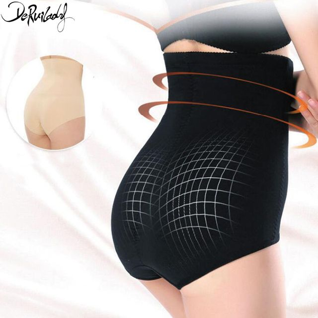 DeRuiLady Fashion Solid Body Shaper Comfortable Breathable High Waist Trainer Pants Shapewear Slim Sexy Underpants Bodysuit