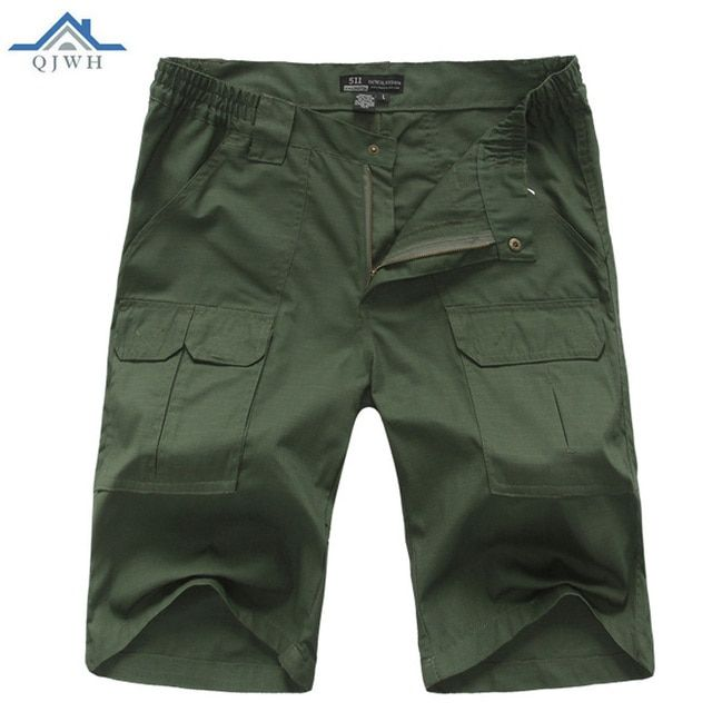 HOT2017 Outdoors Summer men Tactical Overalls Military Short Cargo Multi Pocket Cotton Jungle Army Camo Soldiers Short Trousers