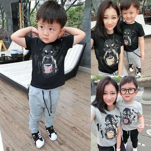 mother and daughter clothes T-Shirt family look 2016 family matching clothes mother son outfits mother father baby