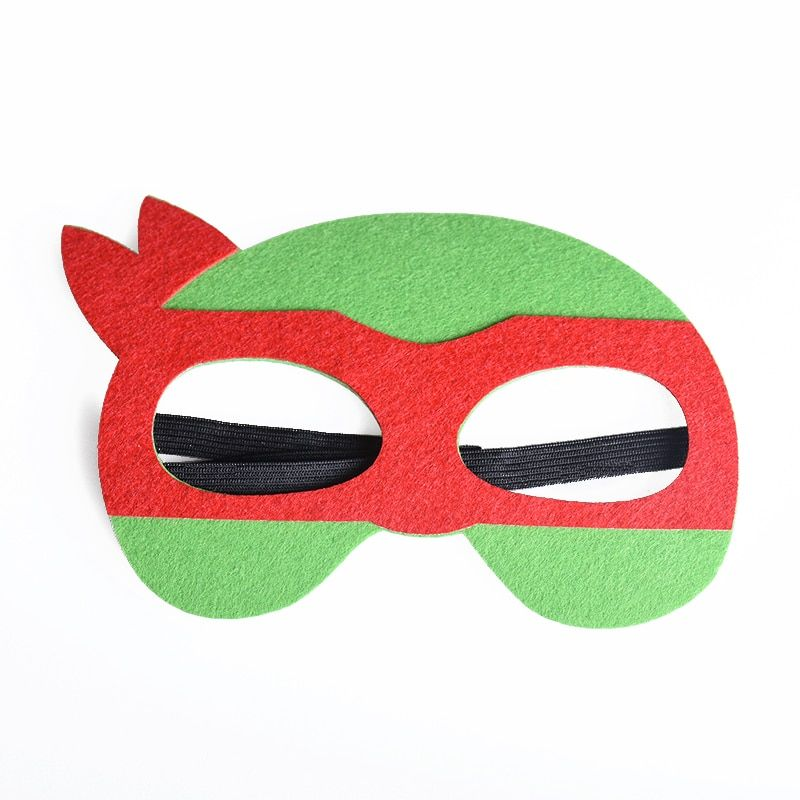 1pc Red Green TMNT Mask Superhero Ninja Turtle Masks Halloween Costumes Festival Children's Day Birthday Party Supplies For Kids