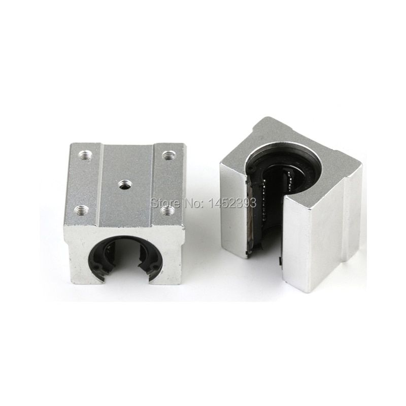 4 PCS Free shipping SBR16 SBR16UU 16mm Linear Ball Bearing Block CNC Router