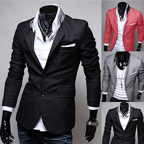 Men's Fashion Spring Autumn Warm Soft Casual Stand-up Collar Business Suit Coat