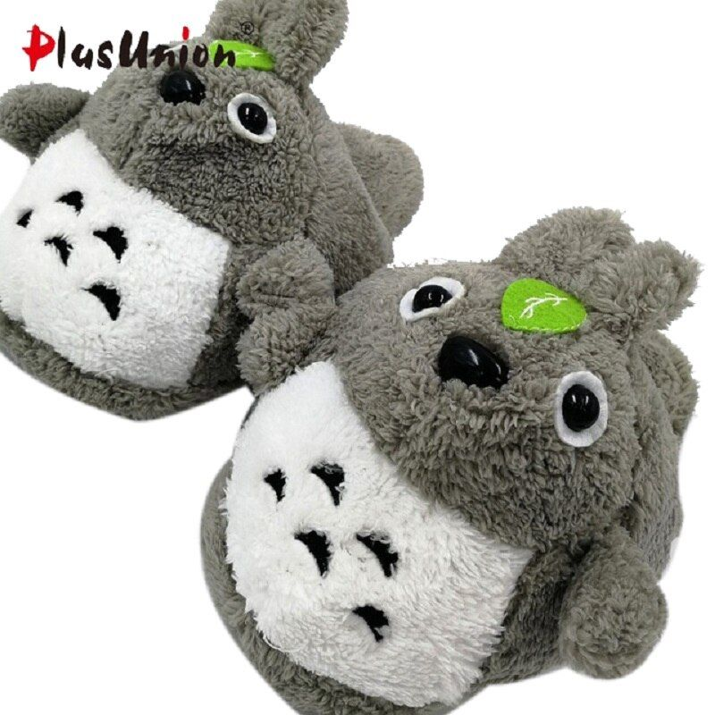 short plush home indoor cartoon warm dog slippers furry fluffy winter animal rihanna fuzzy house women anime mules adult shoes