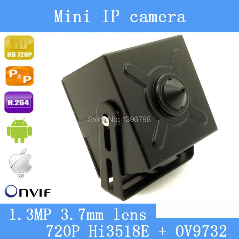 1.3MP 3.7mm lens mini pinhole ip camera 720P home security system cctv surveillance HD Built-in Microphone onvif video p2p cam