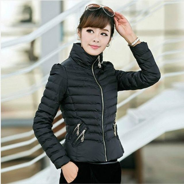 2016 new women cotton-padded ZAB to keep warm in the winter, ladies fashion, decorative bow slim short outerwear and soft