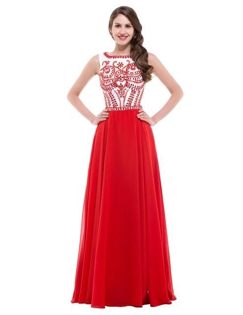 Charming Women Sexy Tank Design Red Evening dresses Plus Size Cheap prom Gown Long Celebrity dress Floor length Gowns CL7531