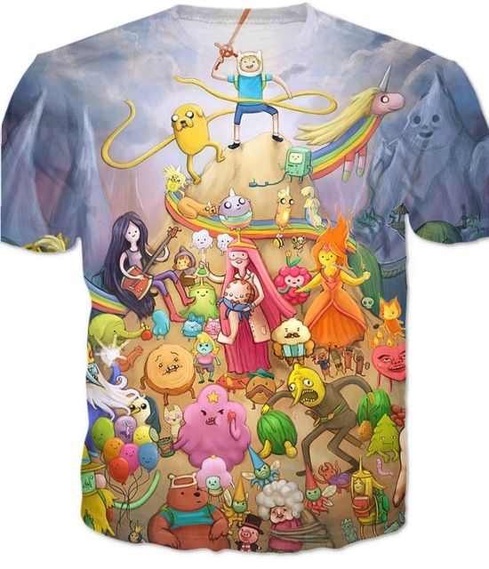 Adventure Time T-Shirt The CharactersWomen Men 3d Printed Graphic Tees Fashion Summer T Shirt Plus Size 5XL