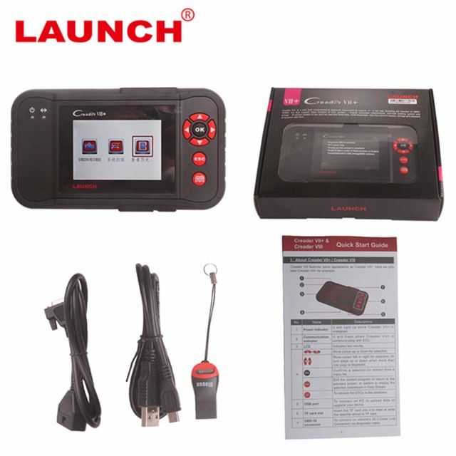2017 new One Year Warranty for Original Launch X431 Creader VII+ Launch Creader 7+ OBDII Diagnostic With Full Function