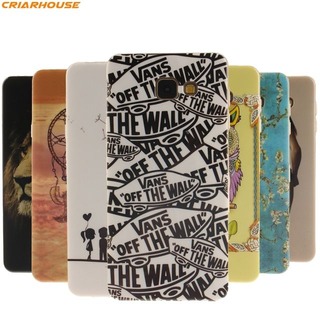 For Samsung Galxy A3 A5 2016 S7 S7 Edge S6 S4 S5 J3 J5 J7 phone case soft TPU Gel IMD art Painted back cover Fundas thin film