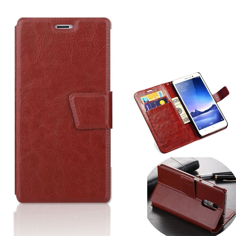 Xaomi Redmi note 4 pro Flip Case Cover For Xiaomi Xiomi Redmi note 4 Case Flip Cover note4 Luxury Leather Brand PU Wallet Bag