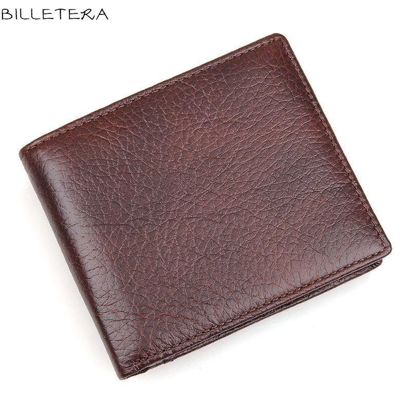 BILLETERA Genuine Leather Men Wallet Billfold Wallet Men's Card Case for Men Money Purse