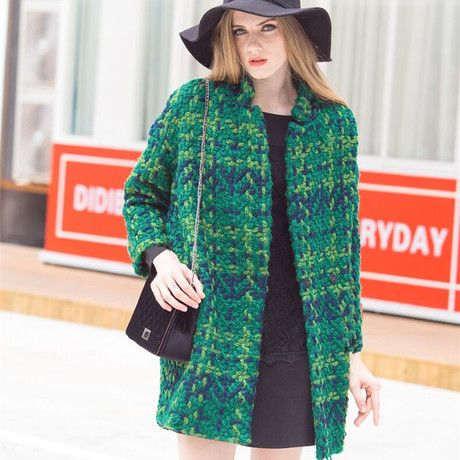 New female clothes 2017 casacos femininos women coat Women's Slim Woolen Coat Autumn Winter wool coat slim winter coat plaid