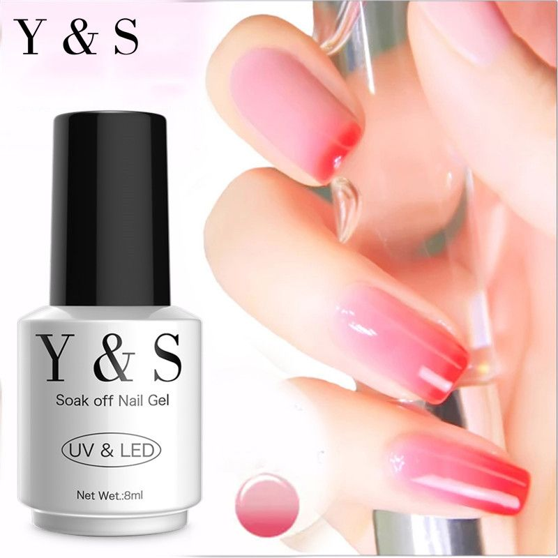 Y&S 8ml Thermo Nail Polish Temperature Color Changing Long-Lasting Soak Off Led UV Thermo Chameleon Gel Varnish Nail Art DIY