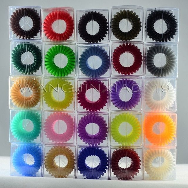 Fashion Traceless Hair Ring Clips Colorful Grip Hair grips For All Hair Types 4Pcs/Pack With Retail Box 100Pack/Lot Free BY DHL