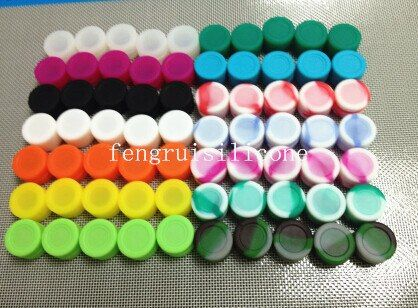 Silicone Container Jars Dab Box Reusable for Concentrate Wax eGo Electronic Cigarette Multi Colors 50pcs
