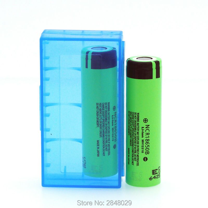 1 PC. The original NCR18650B 3.7 The 3400 mAh 18650 rechargeable lithium battery for Panasonic + box 18650