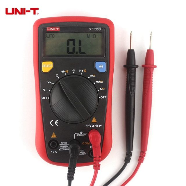 UNI-T UT136B Mini Handheld Digital Multimeter AC/DC Volt Amp Cap Herz. Ohm Meter Monitor Diagnostic-tool Multi Tester