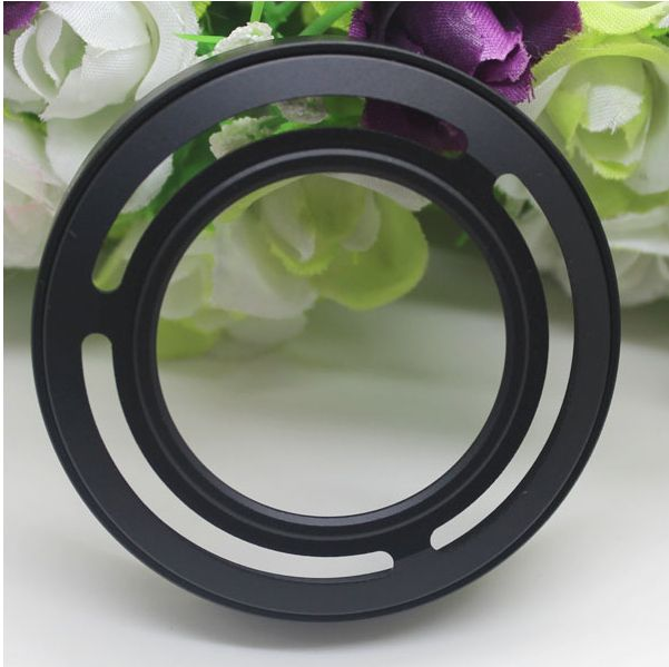 Black Metal Lens Hood For Fujifilm X10 LH-JX10 with Adapter Ring
