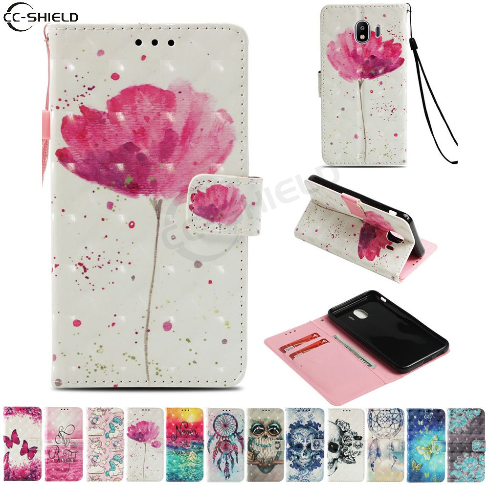 Flip Case for Samsung Galaxy J4 2018 J400 J400F J400F/DS Case Phone Leather Cover SM-J400F SM-J400F/DS SM-J400G/DS SM-J400 Bag