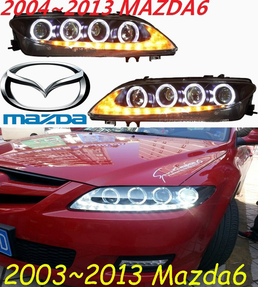 1set Bumper lamp for mazda 6 Mazda6 headlight,2004~2012 car accessories,LED DRL fog for mazda6 headlamp