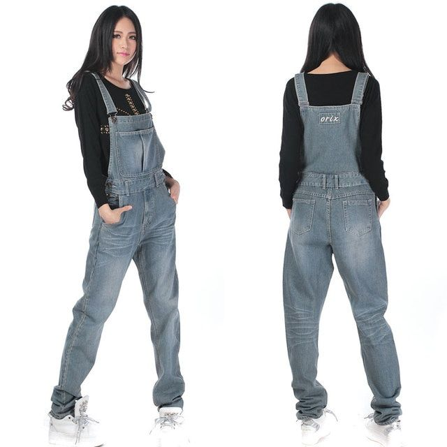 Free Shipping 2017 Jeans Fashion Loose Plus Size 5XL Pants For Women High Quality Overalls Jumpsuit And Rompers Denim Trousers