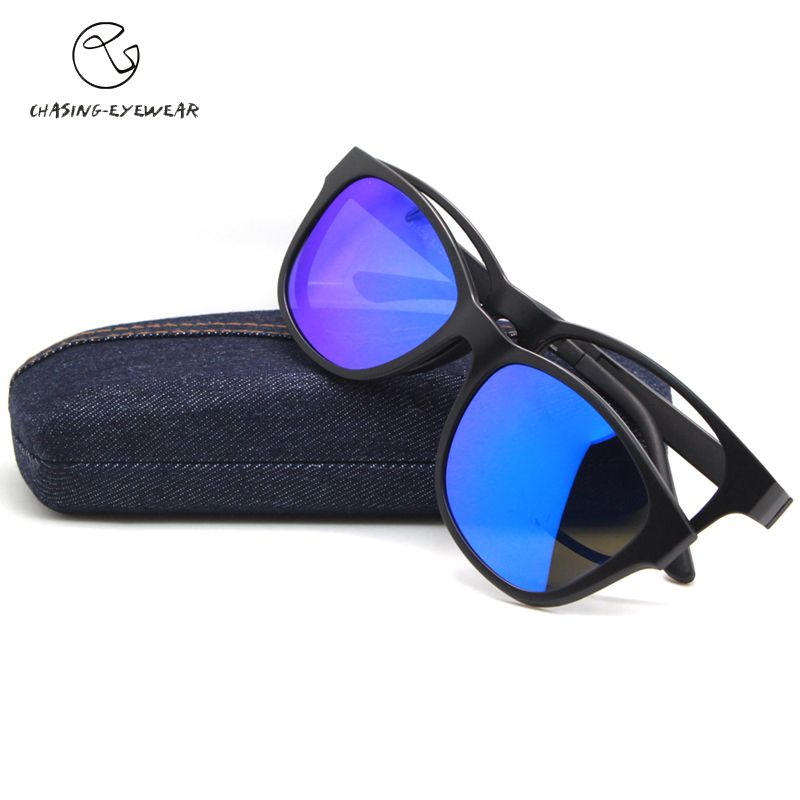 CHASING 2016 fashion Polarization polavized lens Man  TR90 magnet clip glasses myopia glasses frame Uv400 sunglasses CS2015S