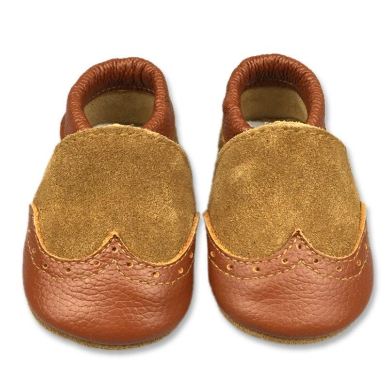 Baby First Walker Newborn Baby Boys Shoes Soft Leather Toddler Girl Shoes Newborn Baby Girl Brown Orange Boots Infantil menina