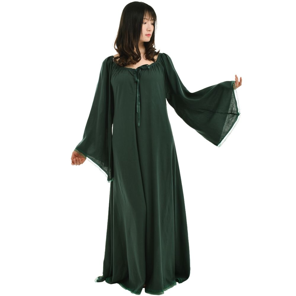 Vintage Medieval Dress Long Women Gothic Chemise