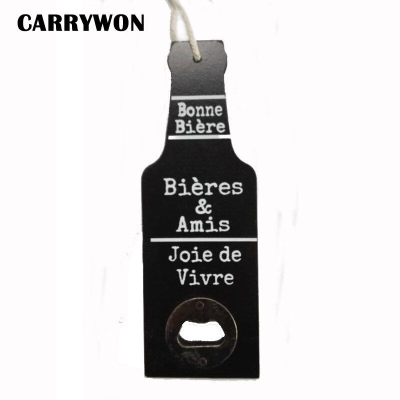 CARRYWON Retro Wood Beer Opener Bar Restaurant Home Bottle Shape Home Furnishing wall Hanging Party Supplies Creative Funny Gift