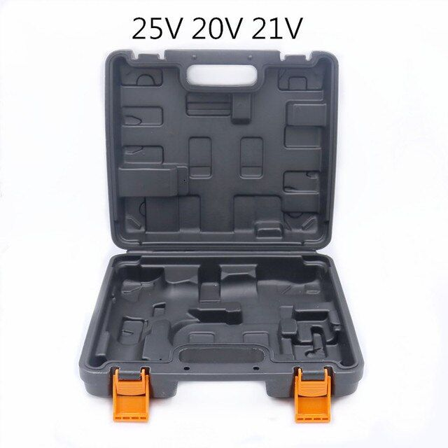 12V mini drill Storage Box 16.8v 25v cordless Electric drill 21v Electric screwdriver Plastic box carry case power tool suitcase
