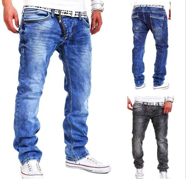 Spring summer new style men's foreign trade personality zipper decorative casual jeans trousers 8816