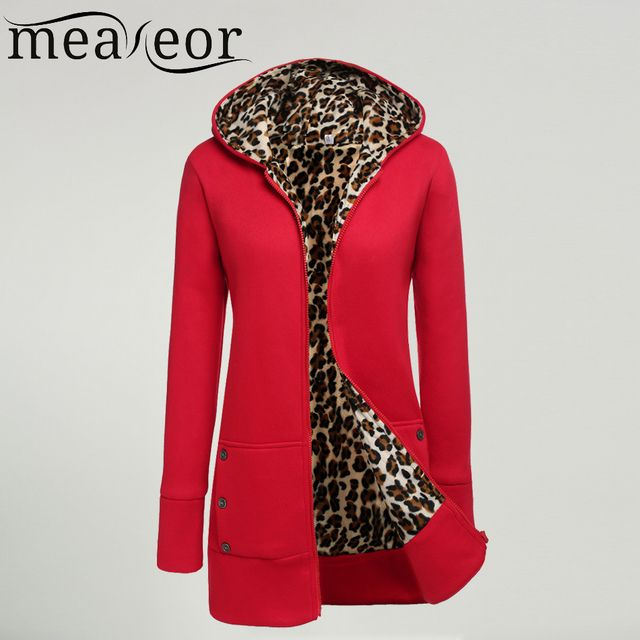 Meaneor Women Fashion Jacket women Long Sleeve Outwear Hooded  Fleece women Long Jacket Coat