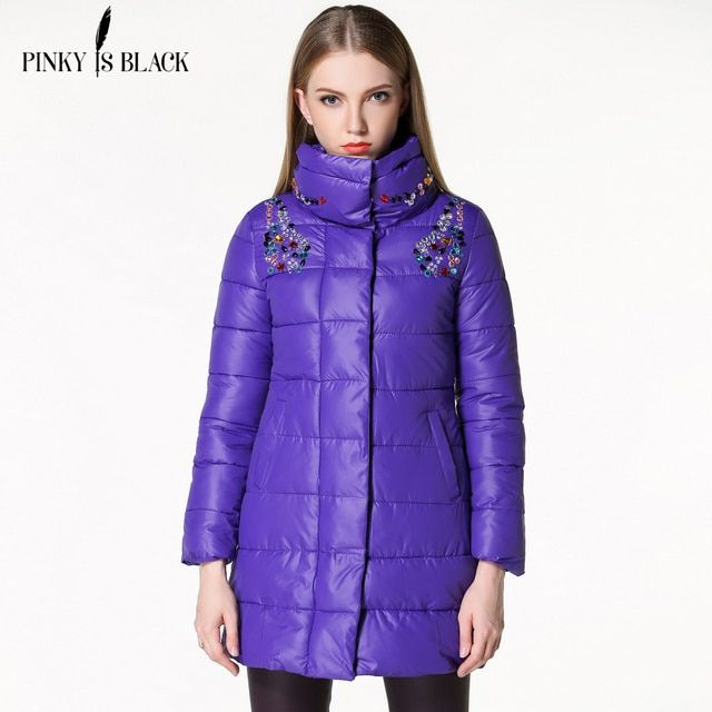 winter women jacket 2016 winter diamond cotton-padded women clothing parka overcoat casual winter coat Plus size Outwear