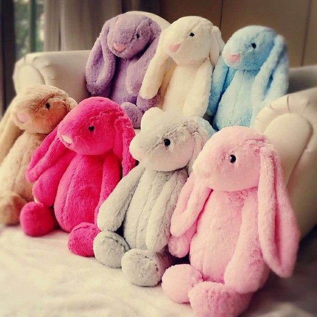 Easter 8 Colour 17cm 28cm Cute plush Rabbit  Toy  Weding Party  Birthday Children's Day Gift Christmas