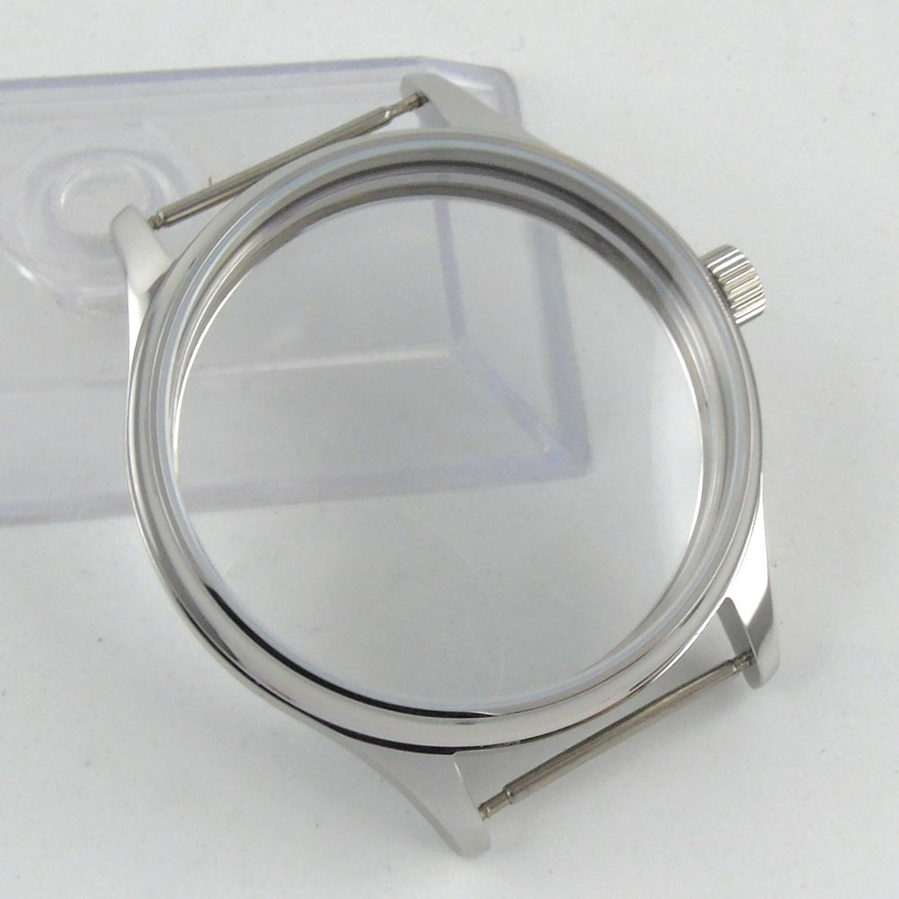 44mm parnis watch sterile CASE fit eta 6498 6497 hand winding eat movement