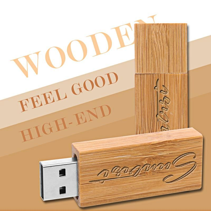 Suntrsi Customized USB Flash Drive Novelty Pen Drive Wooden Pendrive Creative Gift USB Stick Wood USB Flash Free Shipping