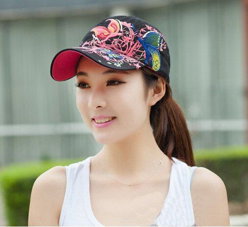 Fashion Design Flower Foldable Brimmed Sun Hat Summer Hats for Women Outdoor UV Protection