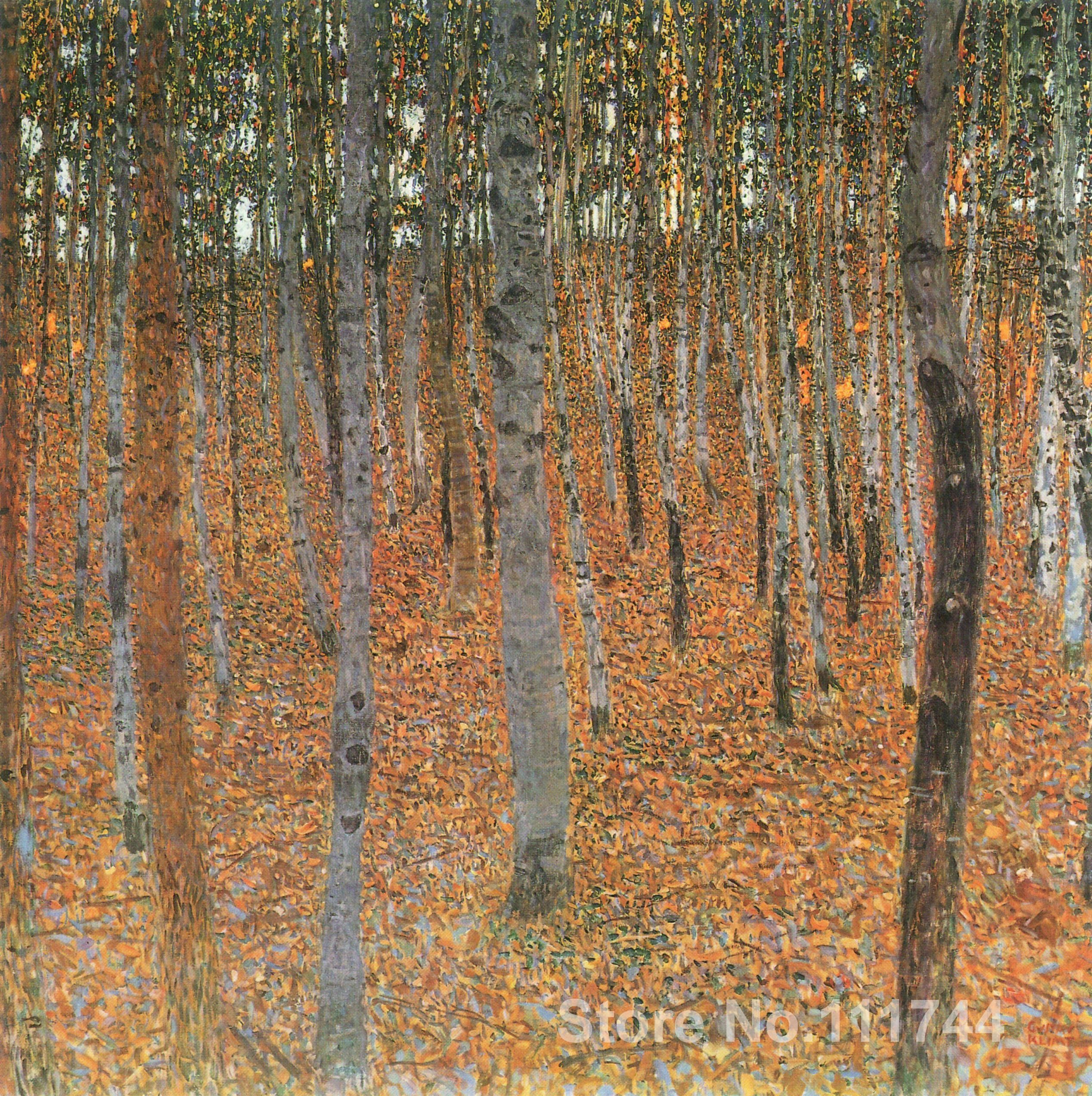 Landscapes paintings of famous artist Beech Grove I Gustav Klimt canvas art High Quality Handmade
